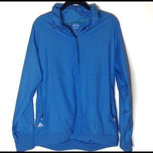 Adidas Clima Proof Blue Zippered Jacket Size Large